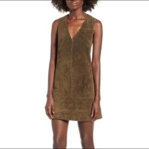 37b791239c 🍀100% suede Blank NYC shift dress